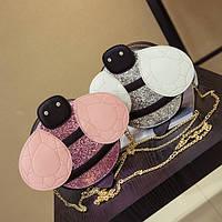Сумка-пчелка для девочки розовая,кроссбоди