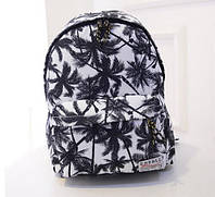 Белый городской рюкзак Пальмы
