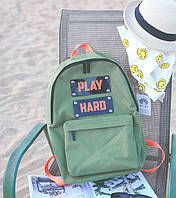 Зеленый городской рюкзак Play hard