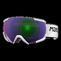 Горнолыжная маска Marker 16:10+ MAP (white\green plasma mirror) 2018