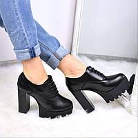 Туфли женские Dina черные 3643, балетки женские