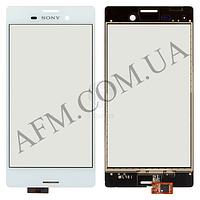 Сенсор (Touch screen) Sony E2303 Xperia M4 Aqua LTE/  E2306/  E2312/  E2333/  E2353/  E2363 белый оригинал