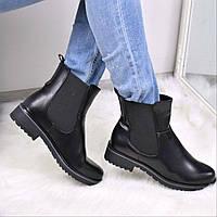 Ботинки женские Arrow черные 3647, ботинки женские