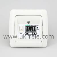 Терморегулятор для теплого пола цифровой для скрытой проводки (16А/3кВт) РТ-16/Р1-Carmen