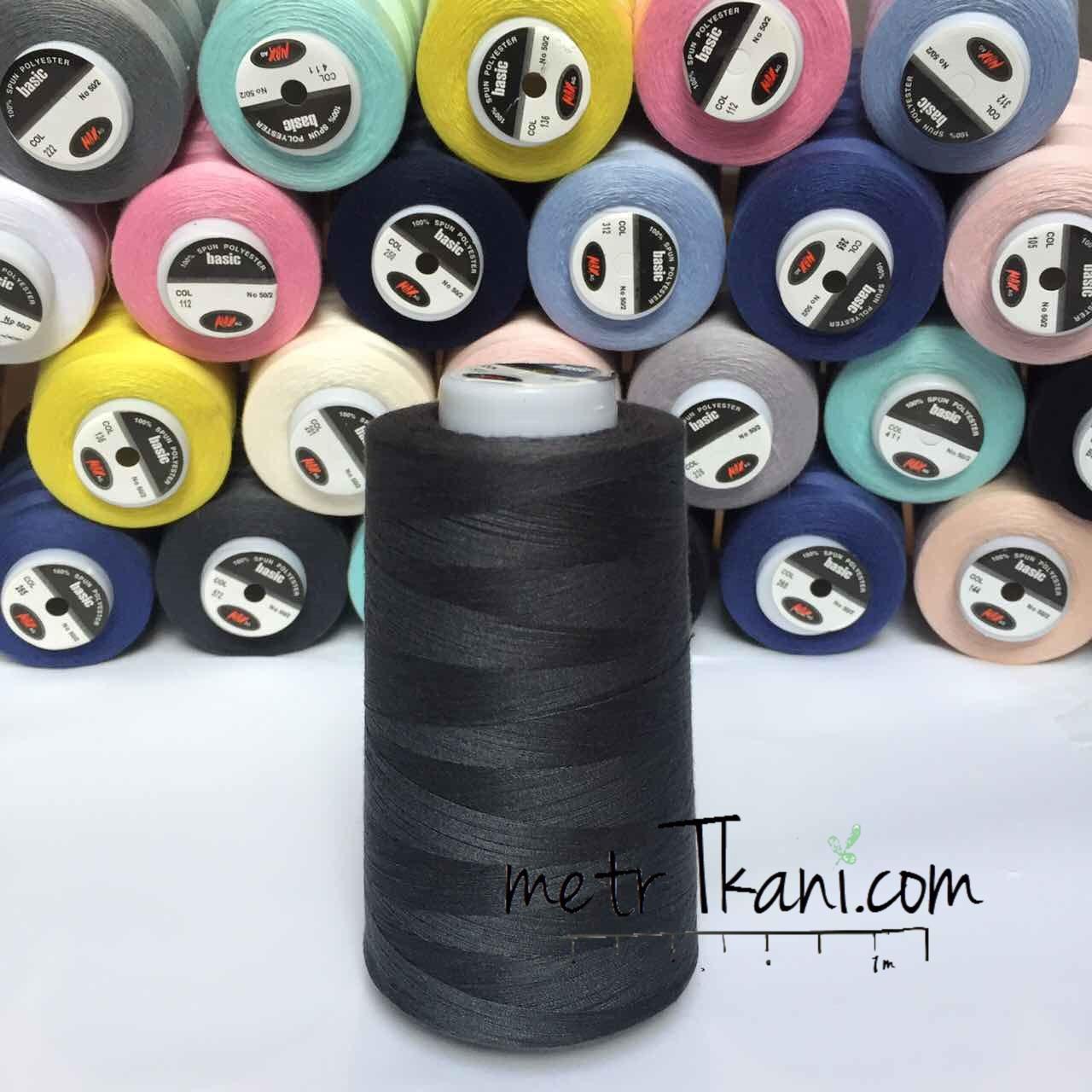 Нитки швейные 50/2  4000 ярдов,цвет темно-графитовый № н572 - Интернет-магазин « метр Ткани» в Киеве