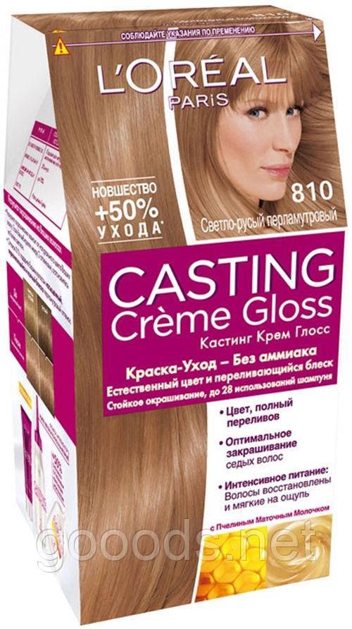 Краска для волос L'OREAL Casting 810 Перламутровый русый
