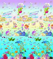 Двухсторонний коврик Babypol 1800x2000 Подводный мир/Английский алфавит