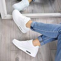 Кроссовки женские Air Max эко кожа белые 3649, спортивная обувь