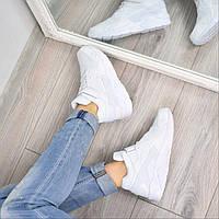 Кроссовки женские Nike Huarache высокие белые 3650, люкс качество