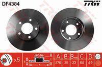 Диск тормозной передний TRW Mazda 3 BK 1,6
