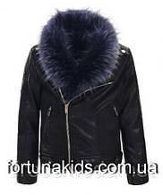 Куртки из кожзама для девочек  GLO-STORY 134/140-170 р.р.