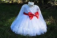 Платье на девочку нарядное белое пышное