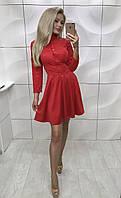 Платье из замши Gertruda красное ! , фото 1