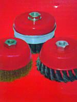 5240103 Щетка чашка 100мм для УШМ, витая латунированная проволока