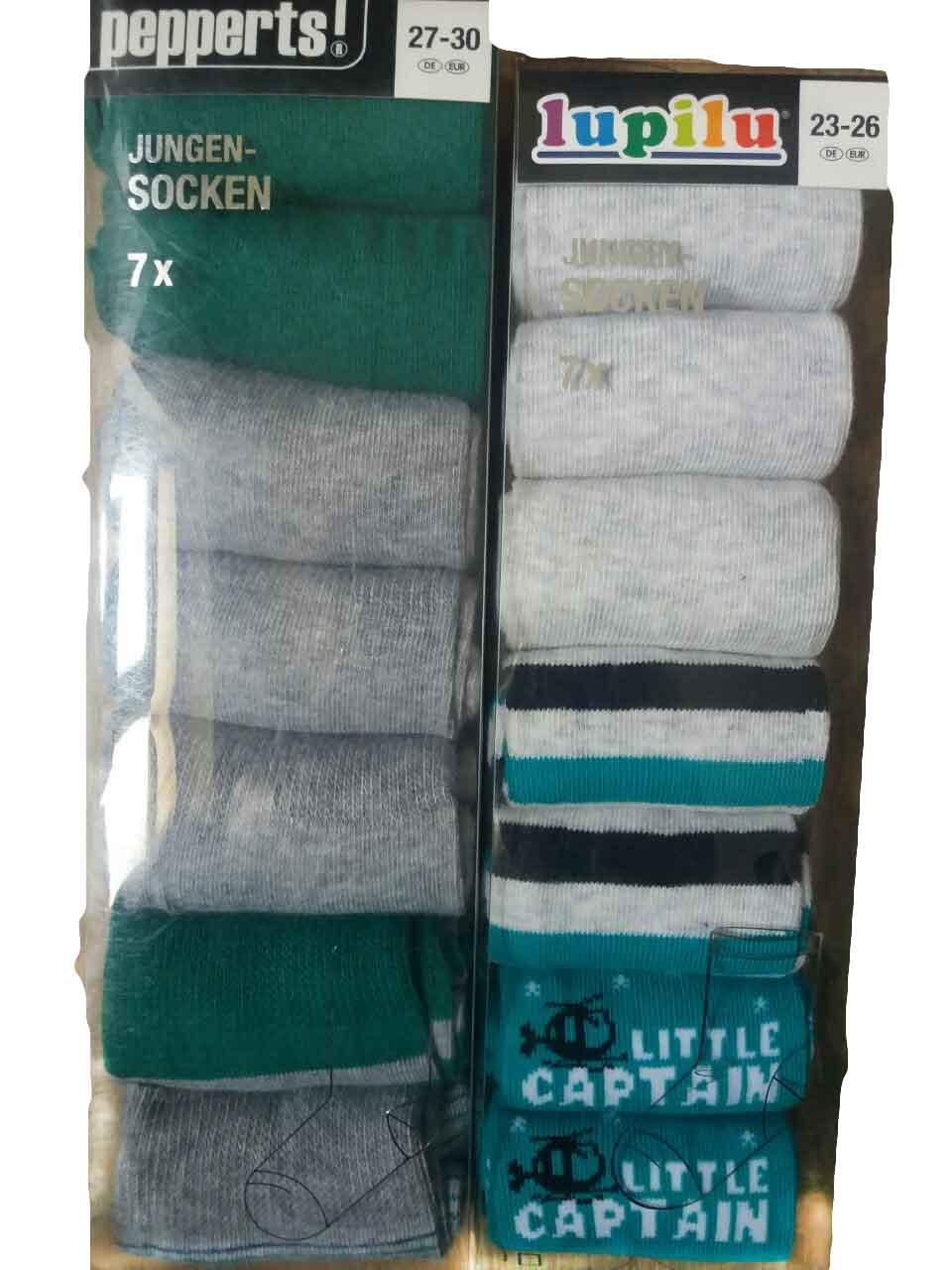 Шкарпетки для хлопчика, (7 шт. В упаковці), розміри 23/26, Lupilu, арт. Л-487