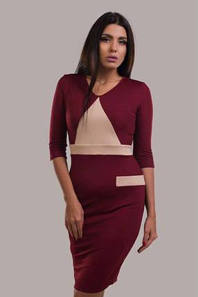 """Шикарное женское платье ткань """"Стеганный трикотаж"""" 48, 50, 52, 54 размер батал, фото 2"""