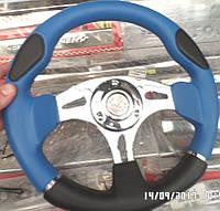 Рулевое колесо MOLBERG ЧЕРНО-ГОЛУБОЙ, фото 1