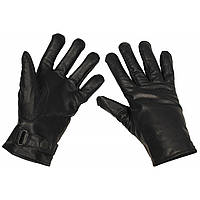 Зимние перчатки BW (кожа+микрофлис), черные. НОВЫЕ. MFH, Германия.
