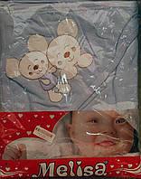 Полотенце с капюшоном махровое для купания с мышками