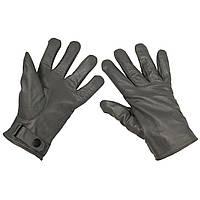 Зимние перчатки BW (кожа+микрофлис), серые. НОВЫЕ. MFH, Германия.