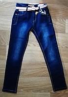 Джинсовые брюки утепленные для девочек Seagull оптом, 134-164 рр.