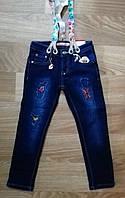 Джинсовые брюки утепленные для девочек Seagull оптом, 116-146 рр.