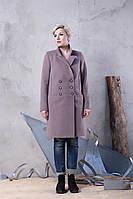 Демисезонное женское пальто с английским воротником