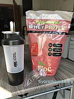 Протеин Гадяч 65 % БИОС клубника 1 кг.+шейкер с контейнером та пружиною за акційною ціною!!!