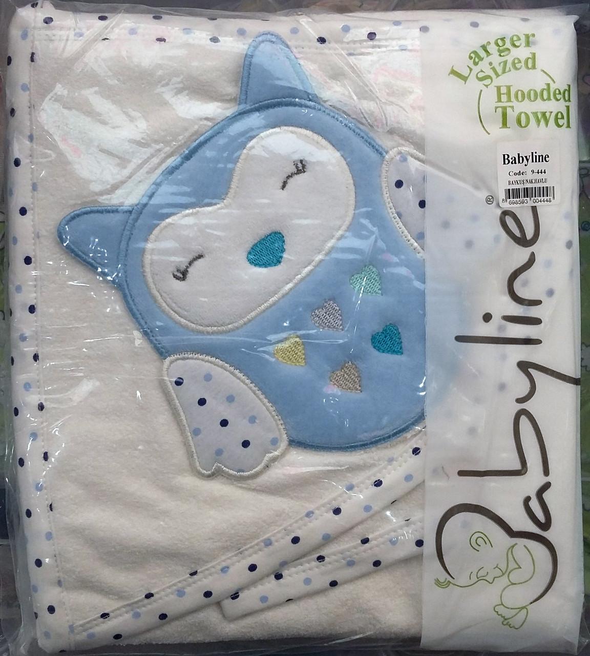 Полотенце с капюшоном для купания с совой