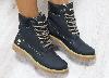 Ботинки зимние Timberland черные из натуральной кожи