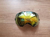 Горнолыжная маска Be Nice с прорезями. Черная рамка желто-графитовая линза