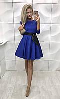 Жаккардовое платье солнце-клеш Zhorzhetta , электрик ! , фото 1