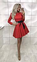 Жаккардовое платье солнце-клеш Zhorzhetta , красное  ! , фото 1