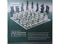 Набор для игры в шахматы со стеклянными стопками (I3-93)