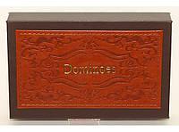 Домино подарочное в кожаном футляре i5-47 (тяжелые кости)