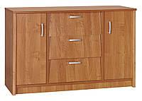 Шкаф для обуви с дверьми и ящиками, галошница ольха, 110х36х70см