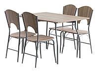 Комплект кухонный  (обеденная группа из стола прямоугольного + 4 стула)