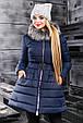 Красивая женская зимняя куртка 2353 синий, фото 4