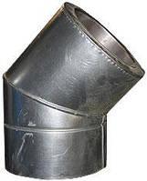 Колено из нержавеющей стали 1 мм 45° в оцинкованном кожухе