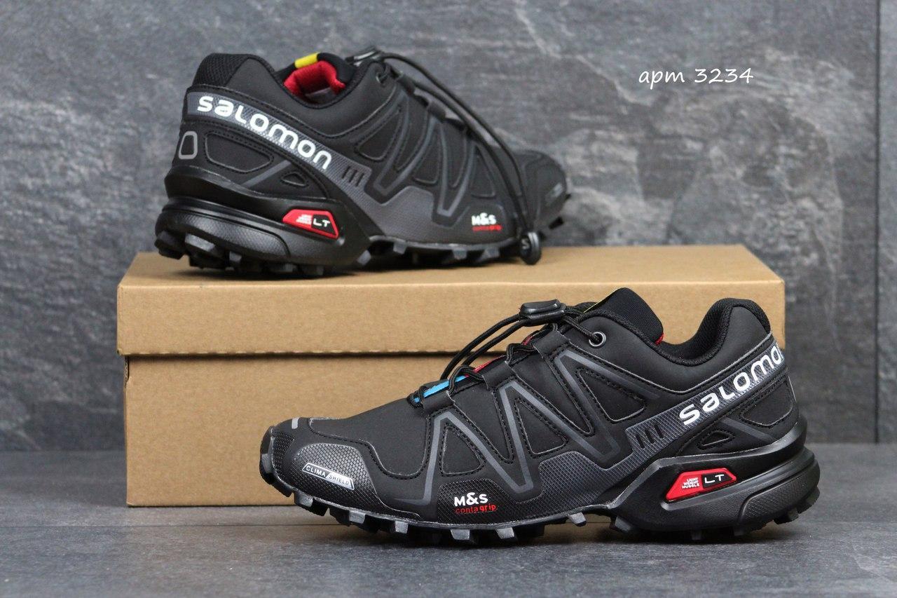 Кроссовки мужские Solomon Speedcross 3 черные с серым 41р
