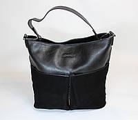 Женская замшевая сумка на одну ручку