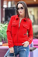 Осенняя женская короткая куртка из пальтовой полушерсти