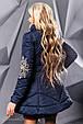 Стильная женская куртка осень-зима 2352 синий, фото 3