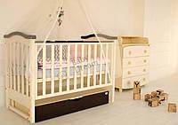 Детская кроватка Prestige 2 с комодом пеленатором Vip