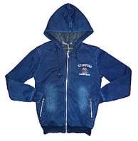 Джинсовая утепленная курткадля мальчиков Grace 116-146 см. №  В72362