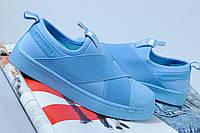 Голубые женские кроссовки