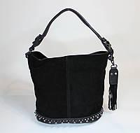 Женская замшевая сумочка на одно плечо