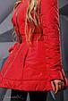 Стильная женская куртка осень-зима 2350 красный, фото 4
