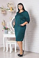 Трикотажное платье р.52-60 V306-03