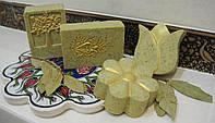 Мыло-скраб «алеппо» с  маслом лавра (сварено с нуля)